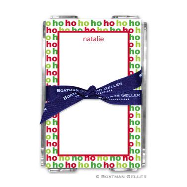 Ho Ho Ho Holiday Note Sheet with Acrylic Holder