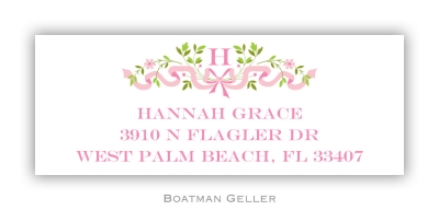 Ribbon Pink Square Stickers