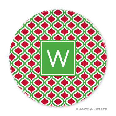 Kate Kelly & Red Holiday Plate