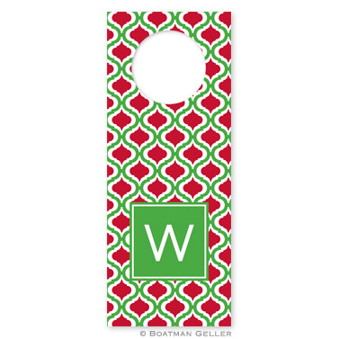 Kate Kelly & Red Holiday Wine Tag