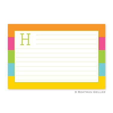 Bold Stripe Personalized Recipe Cards