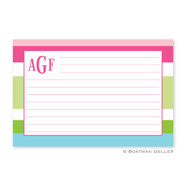 Espadrille Preppy Personalized Recipe Cards