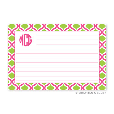 Kate Raspberry & Lime Personalized Recipe Cards