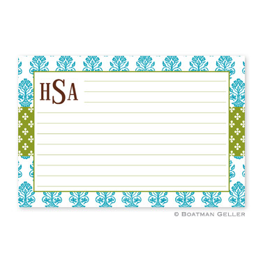 Beti Teal Personalized Recipe Cards