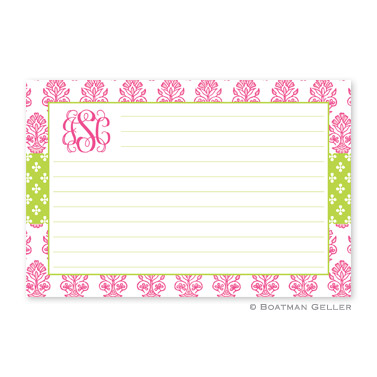 Beti Pink Personalized Recipe Cards