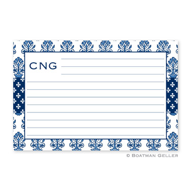 Beti Navy Personalized Recipe Cards