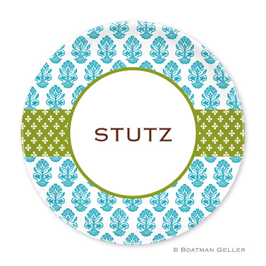Beti Teal Personalized Plate