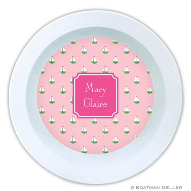 Little Sailboat Pink Bowl