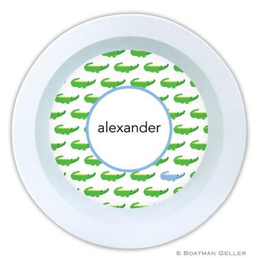 Alligator Repeat Blue Bowl