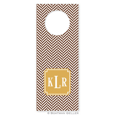 Herringbone Chocolate Wine Tags - qty 8