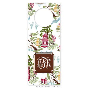 Chinoiserie Autumn Wine Tags - qty 8