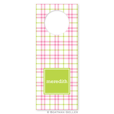 Miller Check Pink & Green Wine Tags - qty 8
