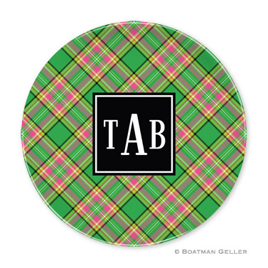 Preppy Plaid Holiday Plate