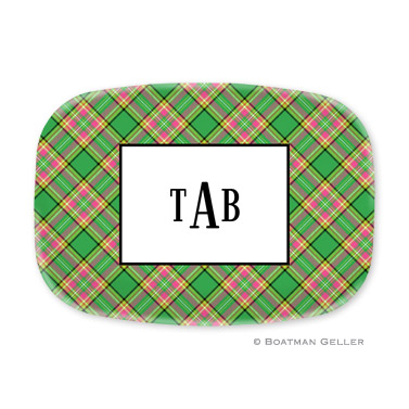 Preppy Plaid Platter