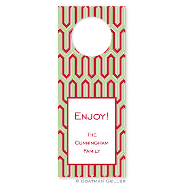 Blaine Cherry Holiday Wine Tag