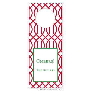Trellis Reverse Cherry Holiday Wine Tag