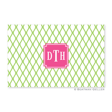 Bamboo Green & Raspberry Personalized Placemat
