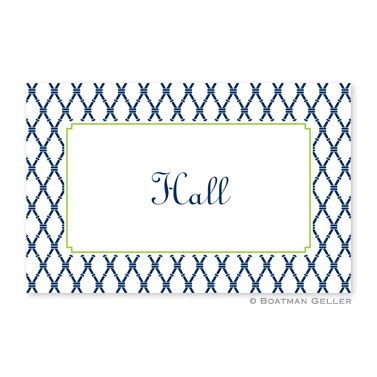 Bamboo Navy & Green Personalized Placemat