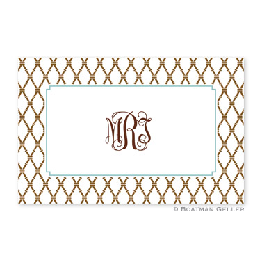 Bamboo Brown & Slate Personalized Placemat