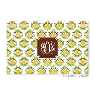 Pineapple Repeat Personalized Placemat