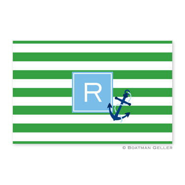 Stripe Anchor Personalized Placemat