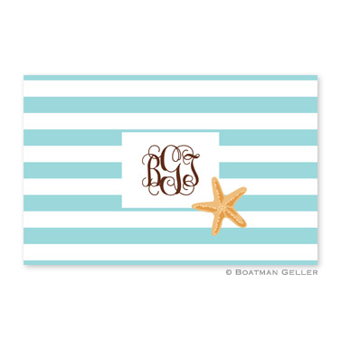 Stripe Starfish Personalized Placemat