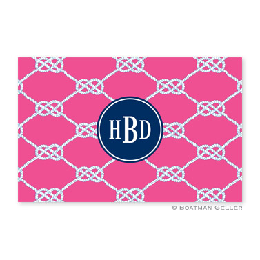 Nautical Knot Raspberry Personalized Placemat