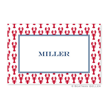 Lobsters Red Personalized Placemat