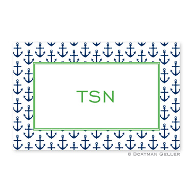 Anchors Navy Personalized Placemat