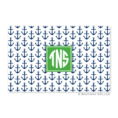 Anchors Navy Disposable Placemats