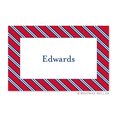Repp Tie Red & Navy Disposable Placemats