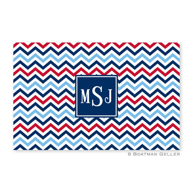 Chevron Blue & Red Disposable Placemats