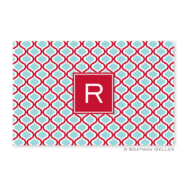 Kate Red & Teal Personalized Placemat