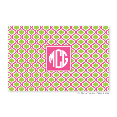 Kate Raspberry & Lime Personalized Placemat