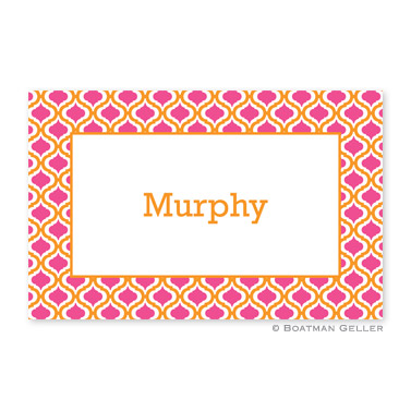Kate Tangerine & Raspberry Personalized Placemat