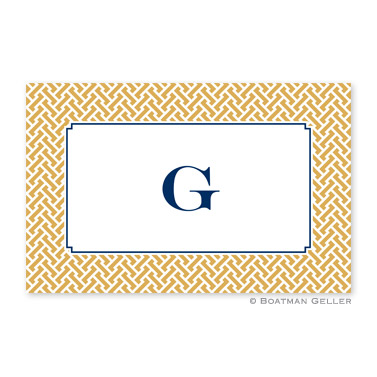 Stella Gold Personalized Placemat
