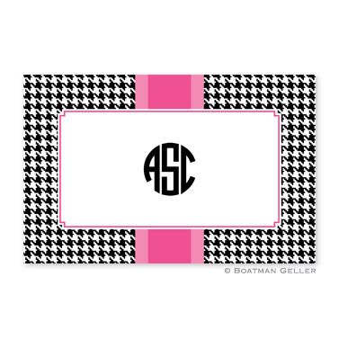 Alex Houndstooth Black Personalized Placemat