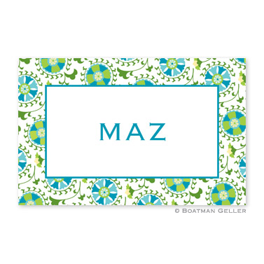 Suzani Teal Personalized Placemat