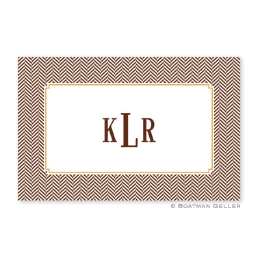 Herringbone Chocolate Personalized Placemat