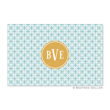 Lattice Slate Personalized Placemat