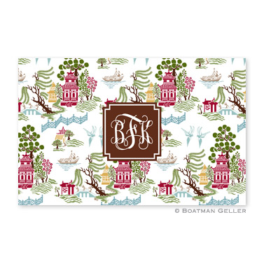 Chinoiserie Autumn Personalized Placemat