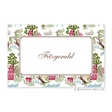 Chinoiserie Autumn Disposable Placemats