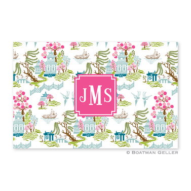 Chinoiserie Spring Personalized Placemat