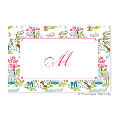 Chinoiserie Spring Disposable Placemats