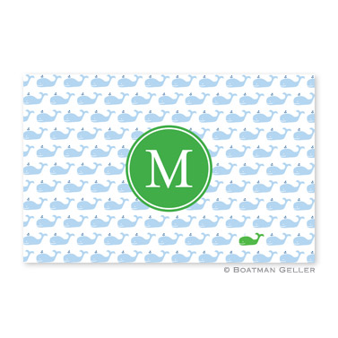 Whale Repeat Personalized Placemat