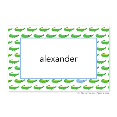 Alligator Repeat Blue Personalized Placemat