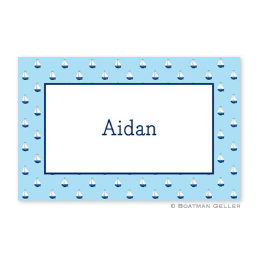 Little Sailboat Personalized Placemat