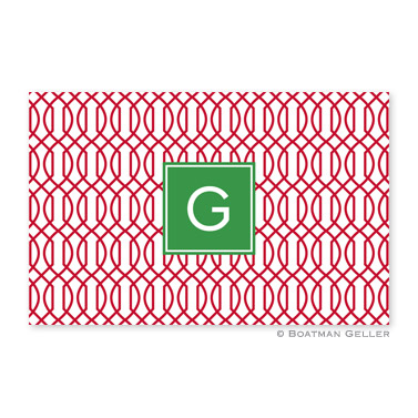 Trellis Reverse Cherry Disposable Holiday Placemat