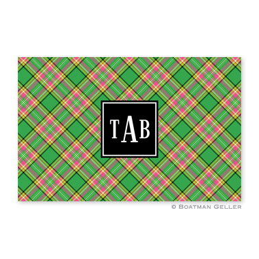 Preppy Plaid Holiday Placemat