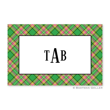 Preppy Plaid Disposable Holiday Placemat